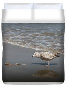 Gull With Fish  Duvet Cover