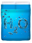 H2o Formula Made By Oxygen Bubbles In Water Duvet Cover