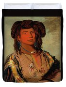 Ha-won-je-tah, One Horn, Head Chief Of The Miniconjou Tribe Duvet Cover