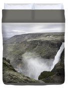 Haifoss Waterfall Iceland 1340 Duvet Cover