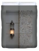 Half Lit Wall Sconce Duvet Cover