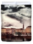 Hamburg At Dusk Duvet Cover