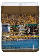 Hammondsport Docks Duvet Cover