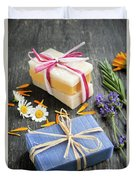 Handmade Soaps With Herbs Duvet Cover