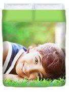 Happy Boy Outdoors Duvet Cover