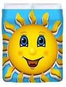 Happy Smiling Sun Duvet Cover