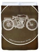 Harley Davidson Model 10b 1914 For Some There's Therapy, For The Rest Of Us There's Motorcycles Duvet Cover