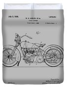 Harley Davidson Motorcycle Patent 1925 Duvet Cover