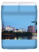 Hartford Skyline Panorama Duvet Cover