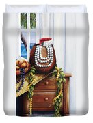 Hawaiian Still Life Panel Duvet Cover