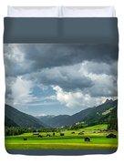 Hay Barns In Oberinntal, Pettneu Am Arlberg Duvet Cover