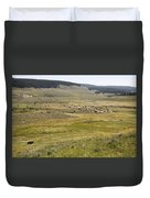 Hayden Valley Herd Duvet Cover