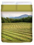 Hayfield Landscape Duvet Cover
