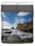 Haystack Rock At Cape Kiwanda Duvet Cover