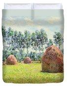Haystacks At Giverny Duvet Cover