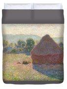 Haystacks, Midday Duvet Cover