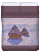 Haystacks, Snow And Sun Effect Duvet Cover