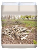 Heap Of Cut Wood Duvet Cover