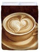 Heart Latte II Duvet Cover