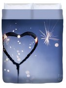 Heart Shape Sparkler Duvet Cover