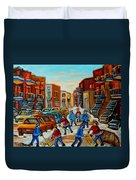 Heat Of The Game Duvet Cover