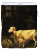Heath Ewe And Lambs Duvet Cover