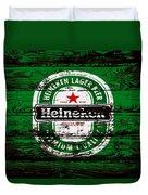 Heineken Beer Wood Sign 1e Duvet Cover