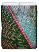 Heliconia Leaf Duvet Cover