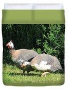 Helmeted Guineafowl Duvet Cover