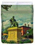 Henry Wadsworth Longfellow Monument - Portland, Maine Duvet Cover