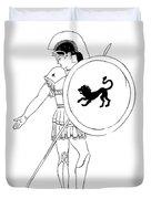 hero - warrior of ancient Greece Duvet Cover