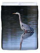 Heron Reflection Duvet Cover