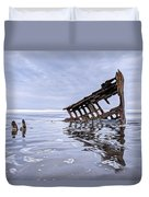The Peter Iredale Wreck, Cannon Beach, Oregon Duvet Cover