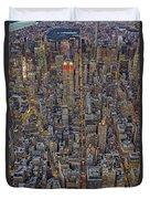 High Over Manhattan Duvet Cover