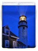 Highland Lighthouse Duvet Cover by John Greim