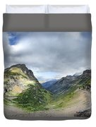 Highline Trail Overlooking Going To The Sun Road - Glacier National Park Duvet Cover
