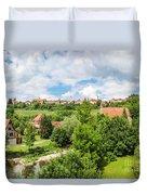 Historic Town Of Rothenburg Ob Der Tauber  Duvet Cover