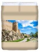 Historic Walls Of Avila Duvet Cover