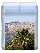 Hollywood Sign Photo Duvet Cover