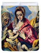 Holy Family With St Anne Duvet Cover