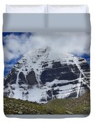 Holy Kailas North Slop Himalayas Tibet Yantra.lv Duvet Cover