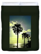 Honeymoon Island Sunset Duvet Cover