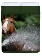 Horse Bath II Duvet Cover