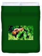 Horse Family Duvet Cover