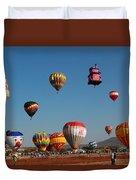 Hot Balloon Festival, Leon, Mexico Duvet Cover