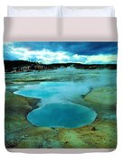 Hot Springs In Yellowstone. Duvet Cover