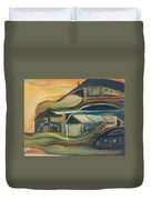 House On A Hill Duvet Cover by Gregory Dallum