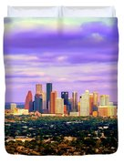 Houston 1980s Duvet Cover