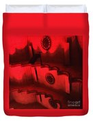 Hues Of Massey Hall - Red Duvet Cover