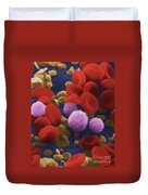 Human Blood Cells Duvet Cover by NIH / Science Source